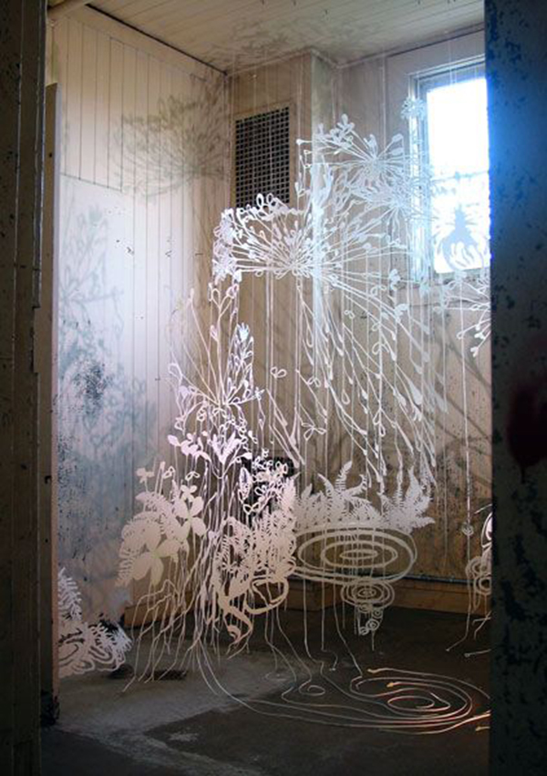 cut paper installation